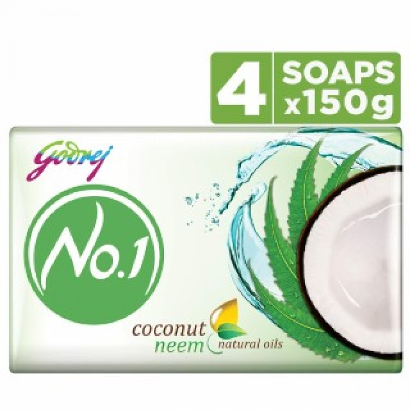 No.1 Soap Coconut 4*150gm