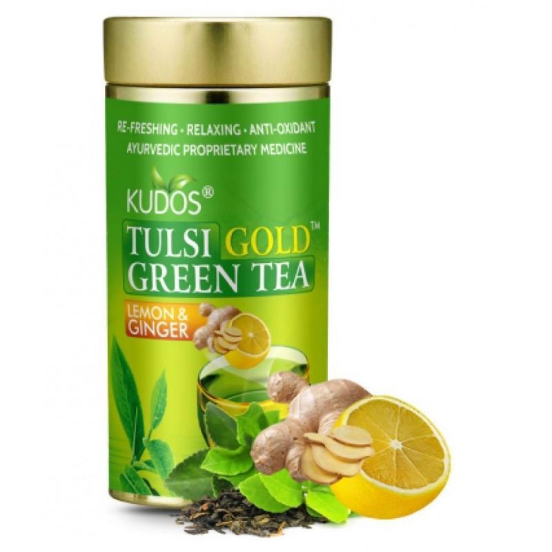 Green Tea Lemon Ginger Kudos Jar 100gm