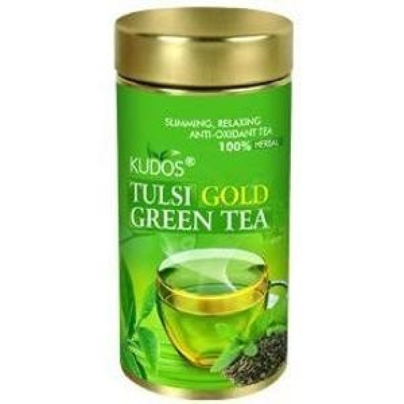 Green Tea Tulsi Gold Kudos Jar 100gm